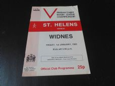St Helens v Widnes, 1981/82
